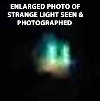 ENLARGED PHOTO OF STRANGE SHAPED OBJECT.