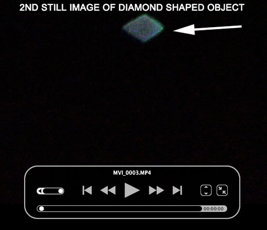 2ND STILL IMAGE OF DIAMOND SHAPED OBJECT EXTRACGTED FROM VIDEO.