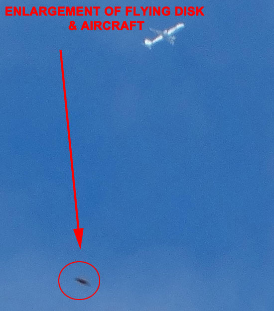 ENLARGEMENT OF 1 OF PHOTOS OF FLYING DISK.