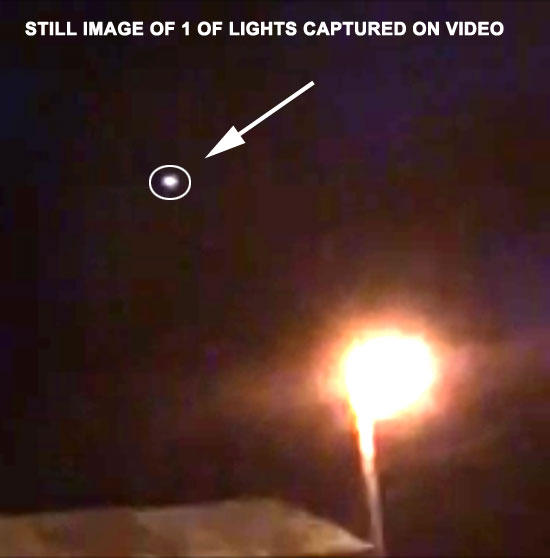 STILL IMAGE OF 1 OF LIGHTS EXTRACTED FROM VIDEO.