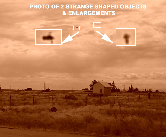 PHOTO & ENLARGEMENTS OF STRANGE SHAPED OBJECTS.
