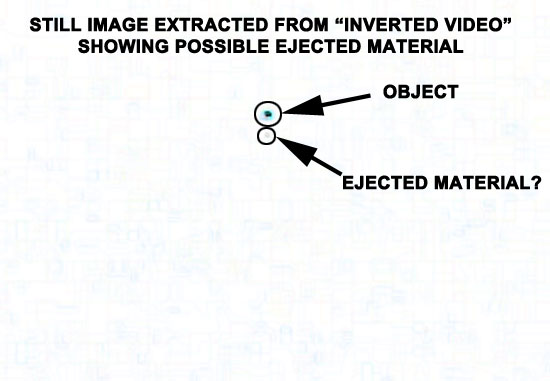 STILL IMAGE SHOWING POSSIBLE EJECTED MATERIAL.