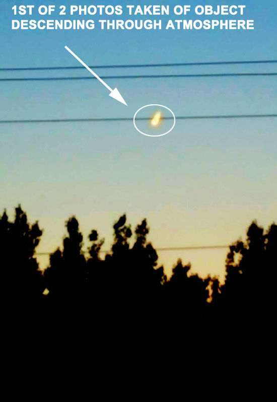 1ST OF 2 PHOTOS OF DESCENDING OBJECT.