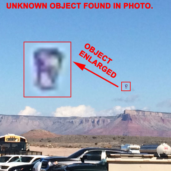 PHOTO OF UNKNOWN OBJECT FOUND IN BACKGROUND.