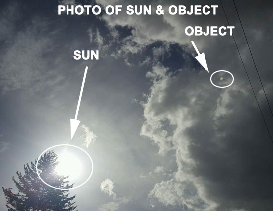 PHOTO OF SUN & OBJECT.