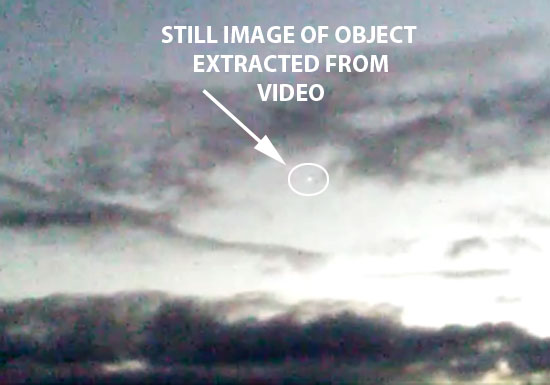 STILL IMAGE OF BRIGHT OBJECT EXTRACTED FROM VIDEO.