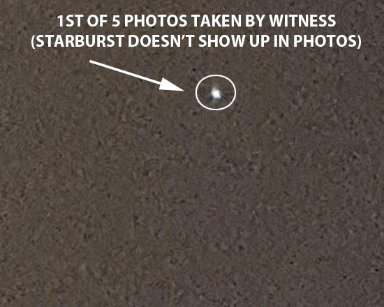 1ST PHOTO OF OBJECT. STARBURST DOES NOT SHOW UP.