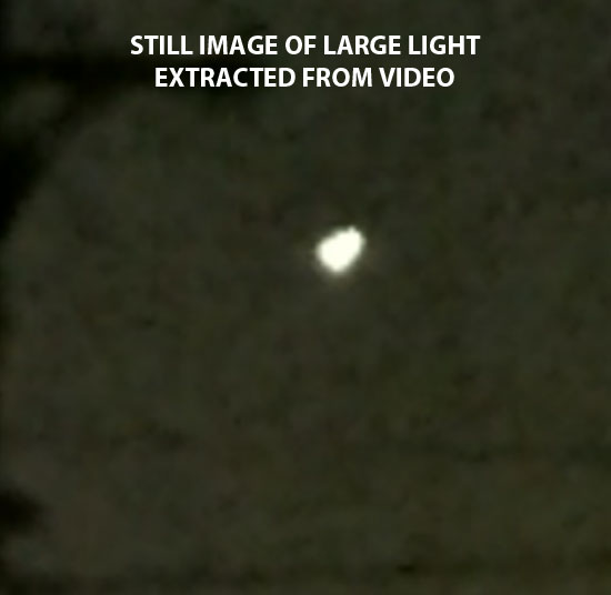 IMAGE OF LARGE LIGHT EXTRACTED FROM VIDEO.