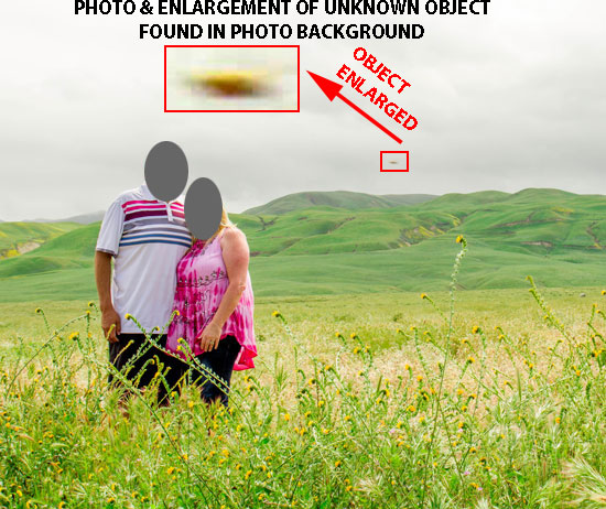 PHOTO & ENLARGEMENT OF UNKNOWN OBJECT.