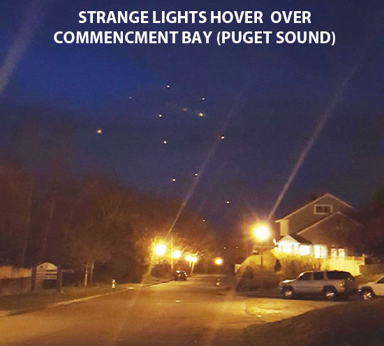 STRANGE LIGHTS HOVER OVER PUGET SOUND.