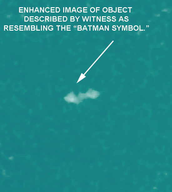 ENHANCED IMAGE OF BATMAN SYMBOL OBJECT.