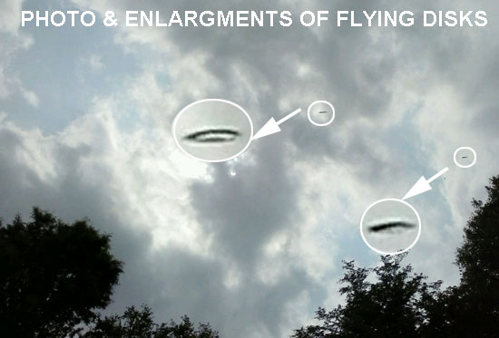 PHOTO & ENLARGEMENTS OF FLYING DISKS.