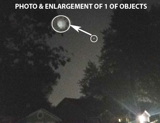 PHOTO & ENLARGEMENT OF 1 OF OBJECTS SEEN BY WITNESS.