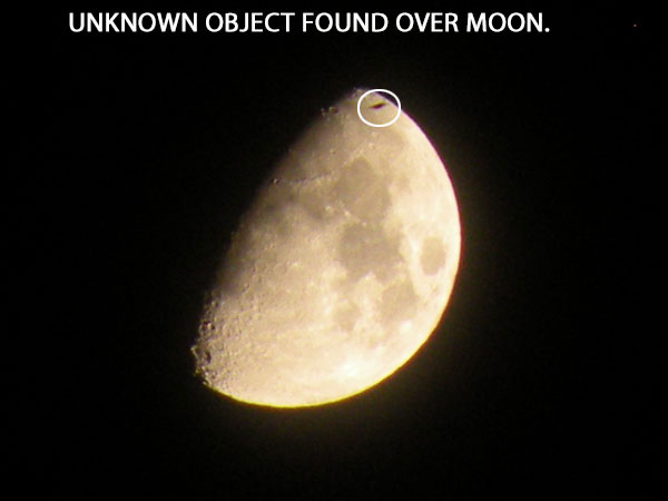 UNKNOWN OBJECT FOUND IN PHOTO OF MOON.