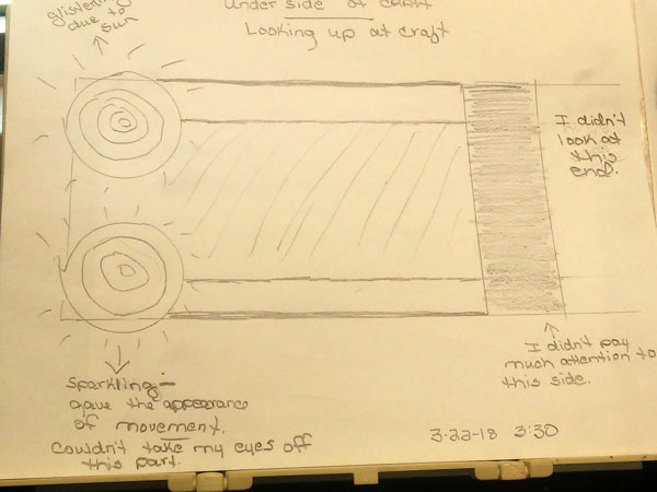 SKETCH OF RECTANGULAR OBJECT PREPARED BY WITNESS.