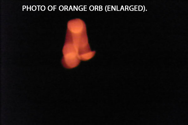 PHOTO OF ORANGE ORB (ENLARGED).