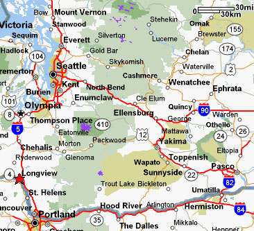 Map Of Washington Cities Washington Road Map Cities In Washington - Map of washington cities