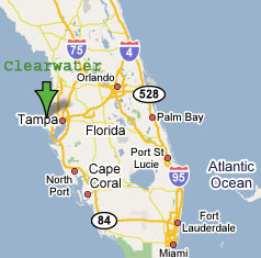 Map Of Florida Clearwater.Florida Map Showing Clearwater Verkuilenschaaij