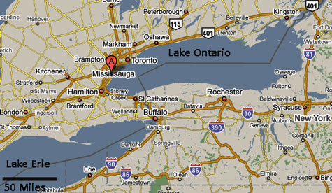 Oakville is About 15 Miles Southwest of Toronto.