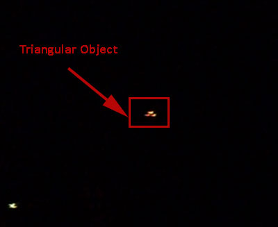 Second Still Image Extracted From Video Showing Triangular Object.