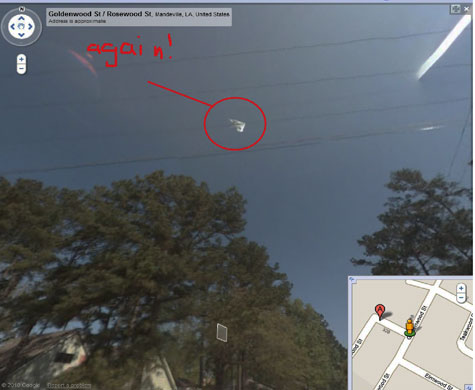 Second Image Extracted From Google Street View Images. User Has Put Annotations on Photo.