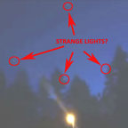 Still Image Extracted From Video Showing Several of the Airborne Lights.