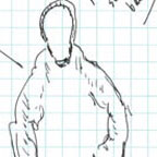 Sketch of Hooded Entity Prepared by Witness.