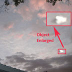 Photo and Enlargement of Bright Object.