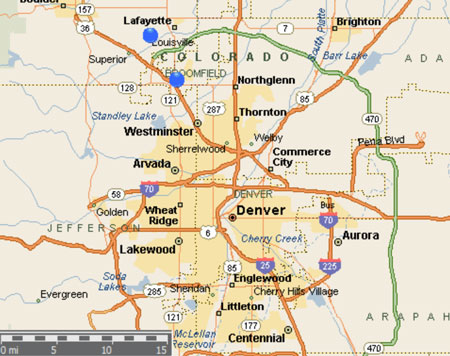 Louisville Colorado Map Submited Images