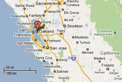 Oakland Ca Map Pictures to Pin on Pinterest PinsDaddy