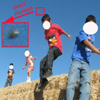 Photo & Enlargement of Object. Faces of Witness's Kids Have Been Obscured.