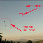 One of Photos of White Light & Hot Air Balloons.