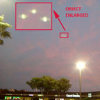One of Photos of Triangular Lights & Enlargement.