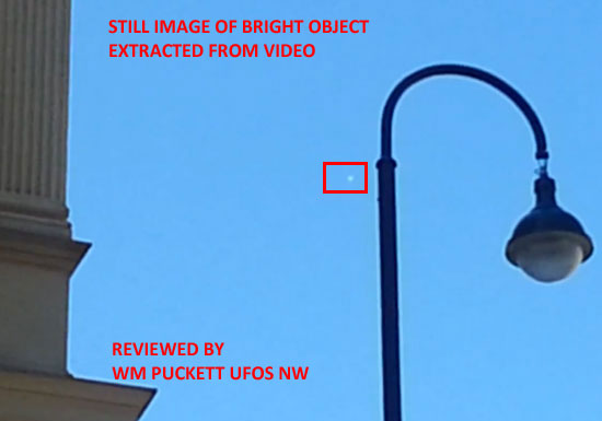 STILL IMAGE EXTRACTED FROM VIDEO OF SILVER OBJECT.