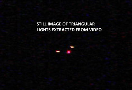IMAGE OF AIRBORNE TRIANGULE EXTRACTED FROM VIDEO.