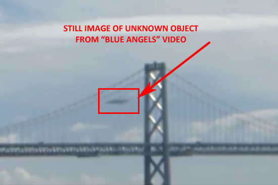 STILL IMAGE OF OBJECT FROM VIDEO AT BLUE ANGELS AIRSHOW.