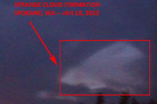 "STILL IMAGE OF ""STRANGE CLOUD"" EXTRACTED FROM VIDEO."
