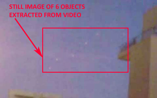 STILL IMAGE OF 6 OBJECTS EXTRACTED FROM VIDEO.