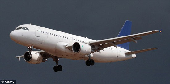 Near miss: The Airbus A320 was under 10 seconds away from hitting the unidentified flying object as it approached Glasgow Airport