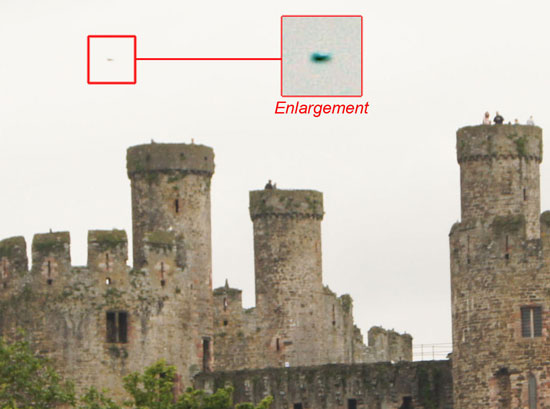 PHOTO & ENLARGEMENT OF UFO PHOTO EDITED BY WITNESS.