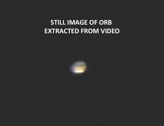 STILL IMAGE OF ORB EXTRACTED FROM VIDEO.