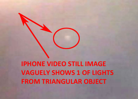 STILL IMAGE SHOWING 1 LIGHT FROM TRIANGULAR OBJECT.