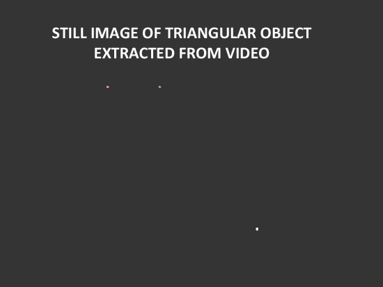 STILL IMAGE OF TRIANGLE EXTRACTED FROM VIDEO.