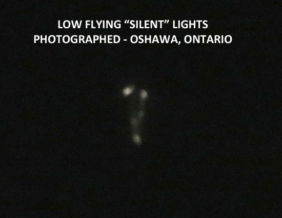 """1 OF 4 PHOTOS OF LOW FLYING """"SILENT"""" LIGHTS."""