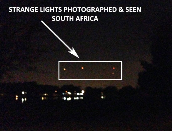 PHOTO TAKEN OF UNKNOWN STATIONARY LIGHTS IN NIGHT SKY.