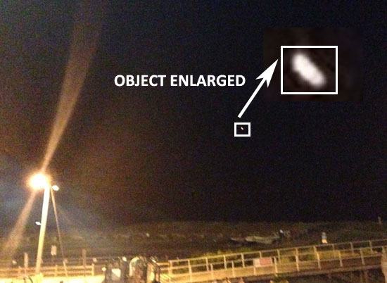 PHOTO OF OBJECT LOOKS MUCH DIFFERENT THAN WHAT WAS OBSERVED BY WITNESS.