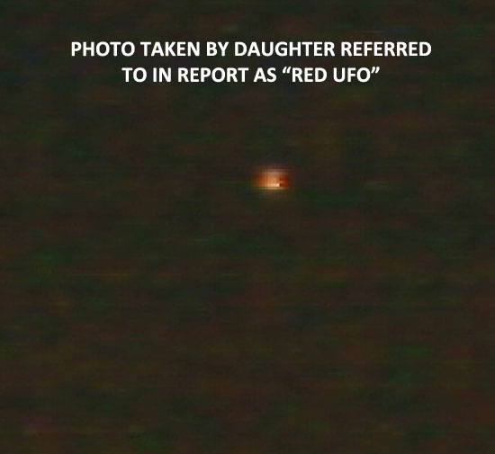 "1 OF PHOTOS TAKEN BY DAUGHTER REFERRED TO AS ""RED UFO."""