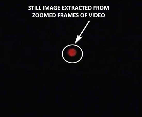 STILL IMAGE OF RED OBJECT EXTRACTED FROM VIDEO.