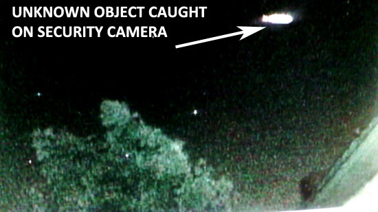 UNKNOWN AERIAL OBJECT FOUND ON SECURITY CAM PHOTO.
