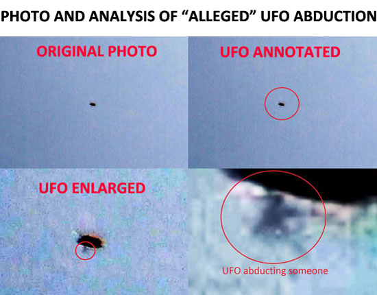 "PHOTO & ANALYSIS OF ""ALLEGED"" UFO ABDUCTION."
